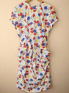 80s Vintage Top & Skirt Set 12 Floral Summer Pockets Suit