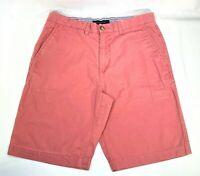 Tommy Hilfiger Salmon Pink Chino Shorts Sz 32 Mens Flat Front Yatch Golf Cotton