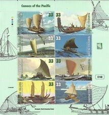 Marshall Islands 1999 Canoes of the Pacific 8 Stamp Sheet #690