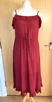 Fat Face Ladies Dress 12 Summer Casual Midi Day Holiday Crinkle Sun Lightweight