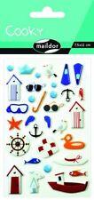 Maildor 32-tlg. Sticker-Set Cooky See Aufkleber 3D Baden Maritim Ente Stickerset