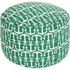 SP Anchor Pouf by Surya, Grass Green/Ivory - POUF-303