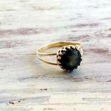 Labradorite ring gemstone ring green LABRADORITE ring STACKING RING