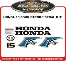 HONDA 15 HP Four Stroke Outboard Decal kit Reproductions  9.9 hp also