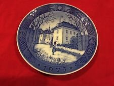 Royal Copenhagen Christmas Plate 1975 The Queens Christmas Residence Pre-Owned