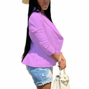 Women's Blazer Long Sleeve Blazers Solid One Button Coat Slim Office Lady Jacket
