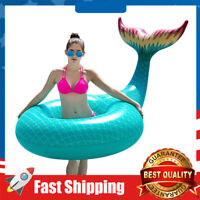Giant Inflatable Mermaid Tail Pool Float Pool Tube Summer Beach Swimming Toys