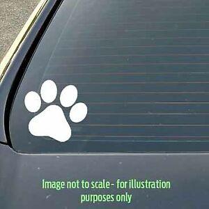 80mm Paw Print Dog / Cat / Puppy / Kitty vinyl sticker car, caravan, lunchbox