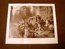 Il 700 in Italia Popolino di Napoli insorge nel 1785 Incisione di L.Pogliaghi