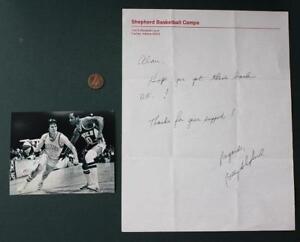 ABA-Indiana Mr. Basketball Billy Shepherd handwritten autographed letter photo!