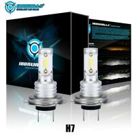 IRONWALLS H7 6000K Super White 7000LM CREE LED Headlight Bulbs Kit High Low Beam
