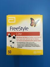 FreeStyle Lite 1 Pack of 50 Blood Glucose Test Strips Expiry 08/2019