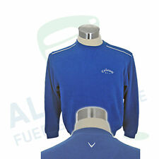 Callaway Golf Jumper Easy Care Cotton Blended Fabric Royal Blue US L D 50-52 NEW