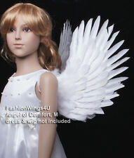 FashionWings (TM) Children's White Costume Feather Angel Wings Point up or Down
