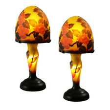Art nouveau lamps ebay pairart nouveau table lamps 15 galle style 7 mushroom flower shade aloadofball Gallery