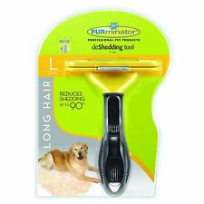 FURminator Long Hair deShedding Tool Pets Dogs Large Stainless Steel Safe Easy