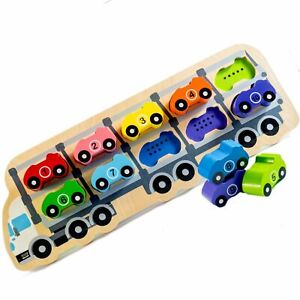 Kiddie Connect Puzzle 1 - 10 Car Wooden