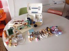 Sylvanian Family Caravan y coche tienda de helados de servicio suave y figuras