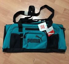 "PUMA Sport Lifestyle Women Duffel Gym bag Green/Black 20"" Accelerator NEW"