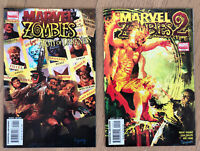Marvel Zombies vs Army of Darkness 1, 2 ~NM Dynamite 2007 Kirkman Phillips Chung
