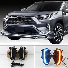 3 Colors LED DRL Daytime Running Light/Front Fog Lights For Toyota RAV4 2019+