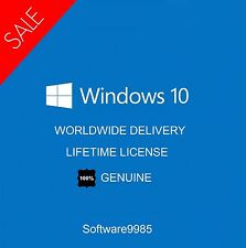 GENUINE WINDOWS 10 PRO 32 / 64BIT ORIGINAL LICENSE KEY SCRAP PC