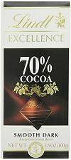 Lindt Excellence 70% Extra Dark Chocolate Bars 3.5-Ounce Pack of 12
