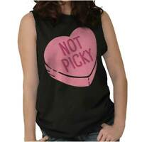 Not Picky Candy Heart Funny Shirt | Valentine Day Couple Gift Sleeveless T Shirt