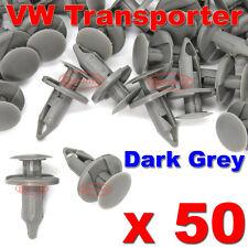 50 VW TRANSPORTER T4 T5 LONGER LONG TRIM PANEL CLIPS DARK GREY VAN CARPET LINING