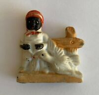 Vintage Black Americana African American Early Bird Catches A Worm Figurine Toy