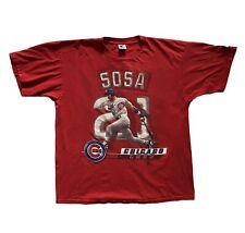 Vintage Starter Sammy Sosa Shirt 1998 Chicago Cubs Red XL Rare