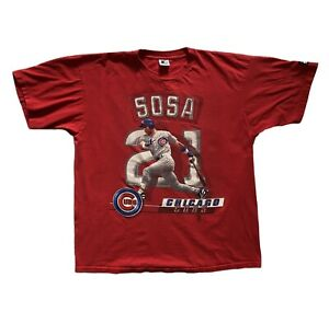 Vintage Starter Sammy Sosa Shirt 1998 Chicago Cubs Red XL Rare