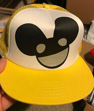 Deadmau5 Yellow Big Face Logo Trucker Hat Snapback Cap