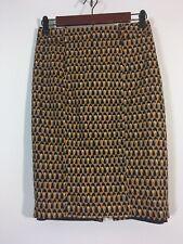 Mossimo Skirt Women Size 2 Orange Geometric Straight Pencil