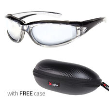 Wind Resistant Sunglasses Extreme Sports Motorcycle Riding Glasses X Black Case