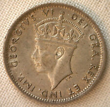 1941 Newfoundland 10 Cents Silver World Coin KM#20 AU #R2
