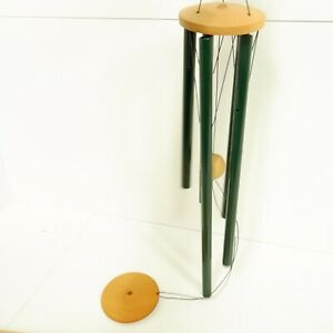 50cm Metal Windspell Large Green Wood Wind Chime Clean Condition New Zealand B5