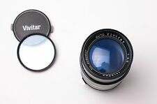 Vivitar 135mm f/3.5 Auto Telephoto Lens Caps & Filter for Nikon F Mount (#2216)