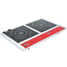 Commercial Restaurant Double Countertop Induction Range Cooker - 120V, 1800W