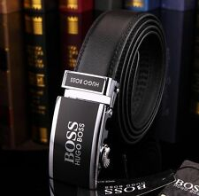 Hugo Boss Leather Belt 120 cm Black Automatic Buckle New, WITH TAGS ,
