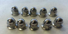 Volvo License Plate Mounting Nut Chrome Acorn Metric 6MM 10 pack  #968458