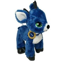 BUILD A BEAR TINSEL BLUE DEER CHRISTMAS HOLIDAY REINDEER STUFFED ANIMAL PLUSH