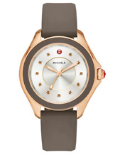 Michele Cape Smokey Quartz, Rose Goldtone Stainless Steel & Silicone Strap Watch