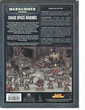 Warhammer 40k Chaos Space Marine Codex (2007 edition) very good to excellent