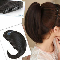"12"" Claw Pony tail Ponytail Clip In On Hair Extensions Straight Style Hairpiece"