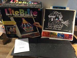 MB Lite Brite within its original box, read listing