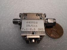 HARRIS FARINON FERRITS ISOLATOR A43532, 7.1-8.5 GHz