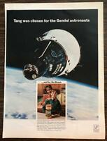 ORIGINAL 1966 TANG Instant Breakfast Drink PRINT AD Choice of Gemini Astronauts