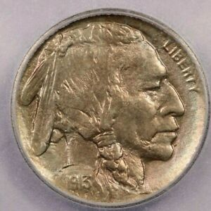 1913-P 1913 Buffalo Nickel Type 1 5C ICG MS63 faint but beautiful color