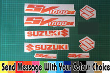 SV1000S Decal/ Sticker Pack -- ALL COLOURS AVAILABLE --  SV 1000 SV 1000s SV650s